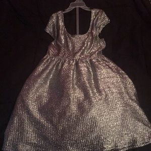 Silver Short Sleeve Dress